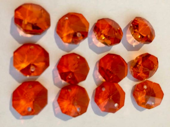 Orange Chandelier Crystals Mm Crystal Chandelier Prism - Orange chandelier crystals