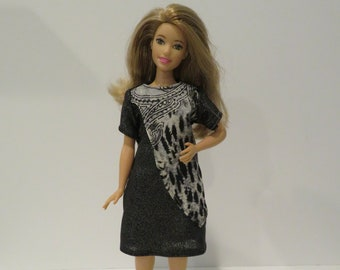 CURVY BARBIE Charcoal Shimmer Dress