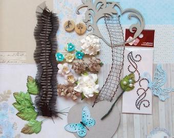 Inspiration Greeting Card Kit, Scrapbooking, Card Making, Mixed Media, Tag Art, Tags, Mini Album, Art Journaling