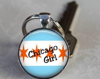 Chicago Girl..Chicago Lover Gift..Pendant,Necklace or Keyring