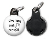 Live Long and Prosper,Trekkie Gift,Retractable Badge Reel,ID Badge Holder Key Ring,Nurse,Doctor,Teacher,Office Worker