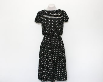 vintage polka dot dress | medium day dress