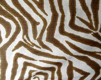 Zebra animal print in brown, indigo. or steel gray