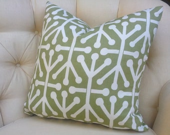 Pillow Cover Cushion,  sage green modern geometric tribal
