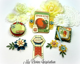 Graphic 45 Home Sweet Home Handmade Paper Embellishments for Scrapbook Layouts Cards Mini Albums Tags and Papercrafts