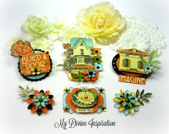 Graphic 45 Artisan Style Handmade Paper Embellishments and Tags for Scrapbooking Cards Mini Albums Tags and Papercrafts