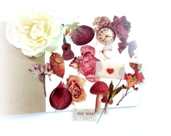 C-0094* 20 Botanical / Floral Transparent Stickers for Junk Journaling, Planners, Scrapbooks, Cards, Tags Paper Crafts Altered Art Crafts