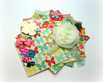 MME Scrapbook Embellishment Kit Inspiration Kit Life Project Kit for Scrapbooking Cards Mini Albums Tags and Papercrafts