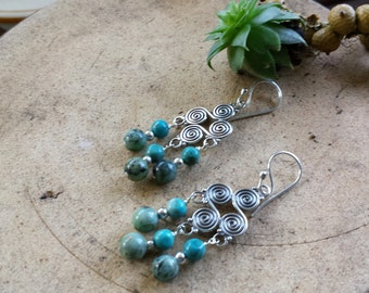 Mixed Turquoise& Bali Silver