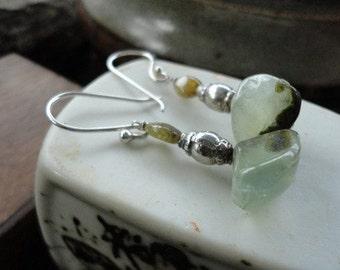 Green Garnet & Tourmaline Earrings