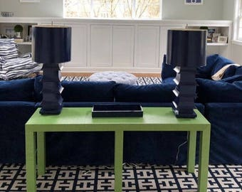 Grasscloth Console Table - Custom Built - Design Your OWN