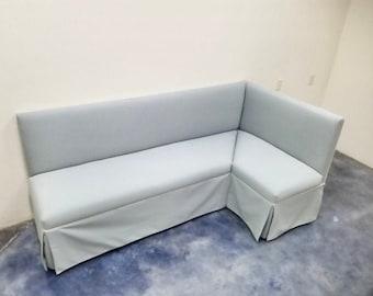 Custom Built Corner Banquette- Skirted - COM