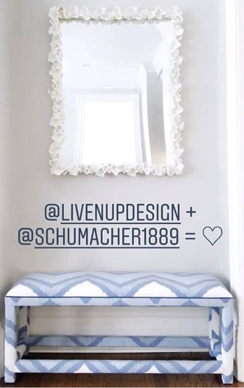 Custom Upholstered Bench  Design Your Own In ANY Fabric image 0