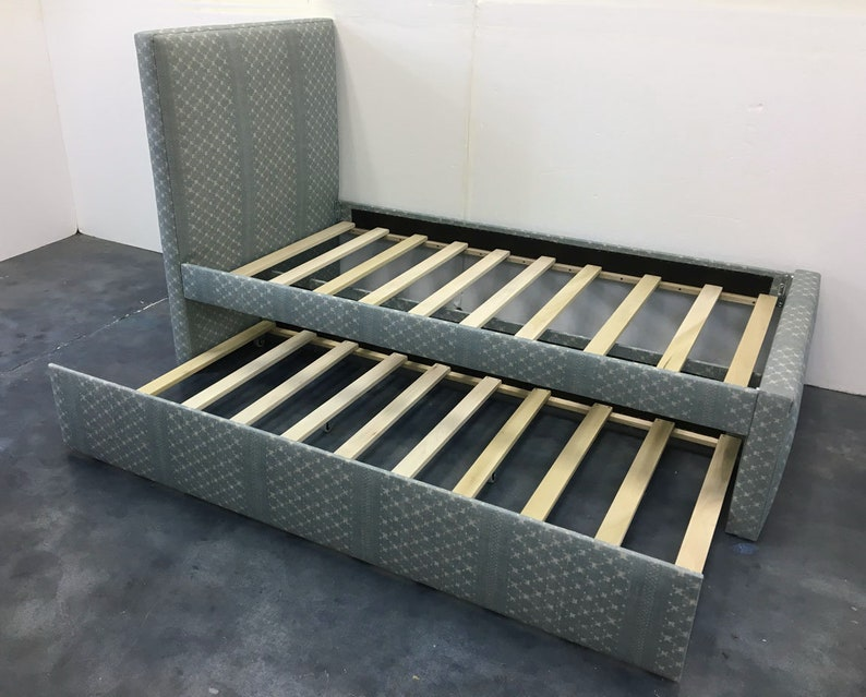 Custom Twin Bed W/Rolling Trundle image 0