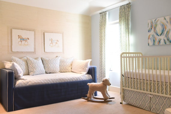 Custom Daybed WTrundle Upholstered In ANY Fabric COM