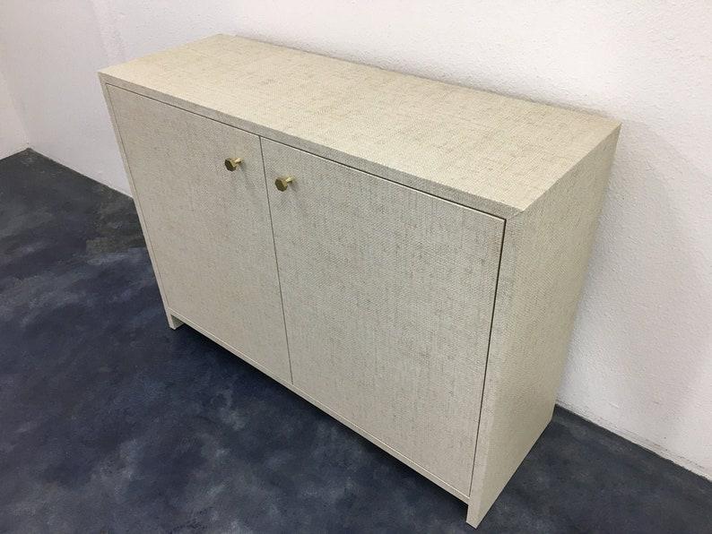 Grasscloth Cabinet   Custom Built COM image 0