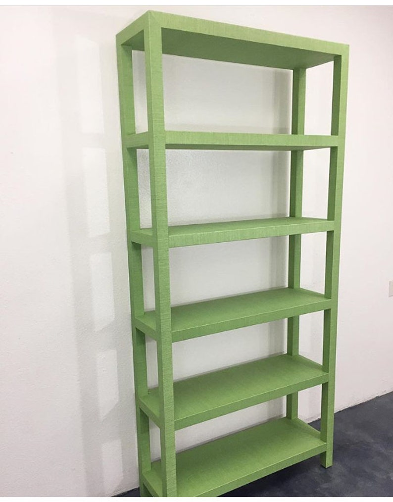 Custom Built Large Grasscloth Bookcase  COM image 0