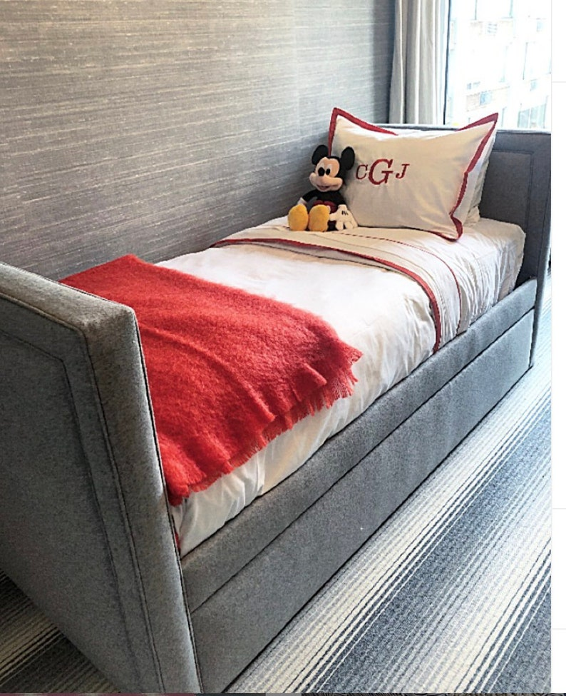 Custom Trundle Bed W/Inset piping detail on Inside and Outside image 0