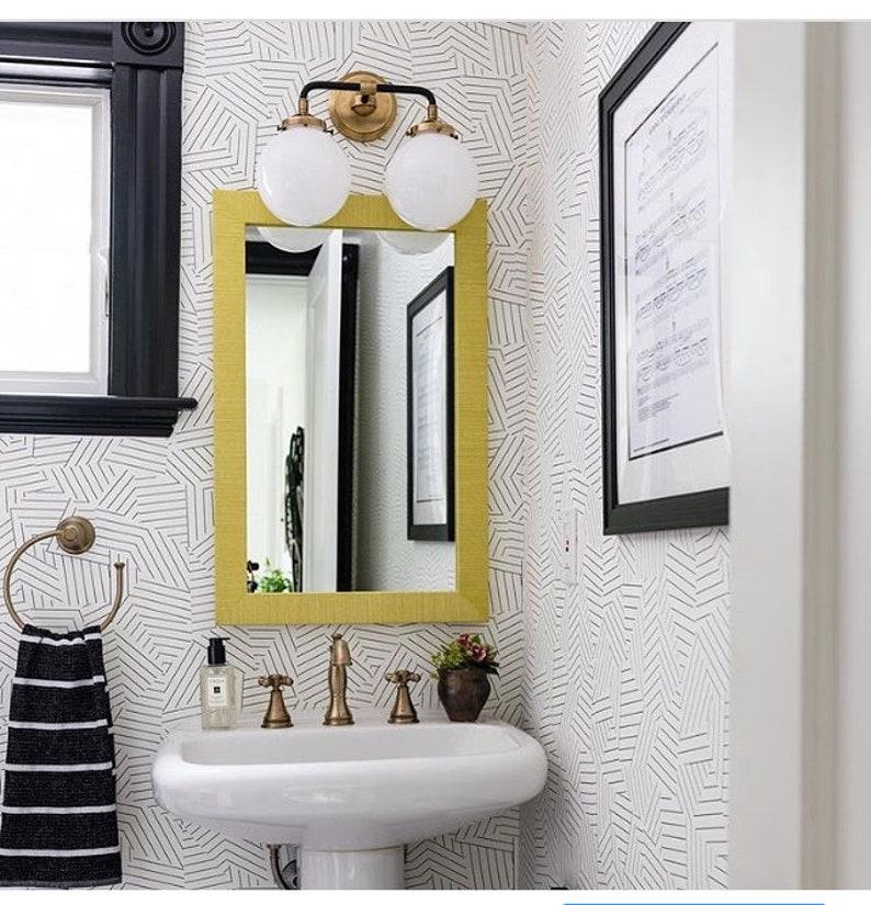Custom Grasscloth Mirror image 0