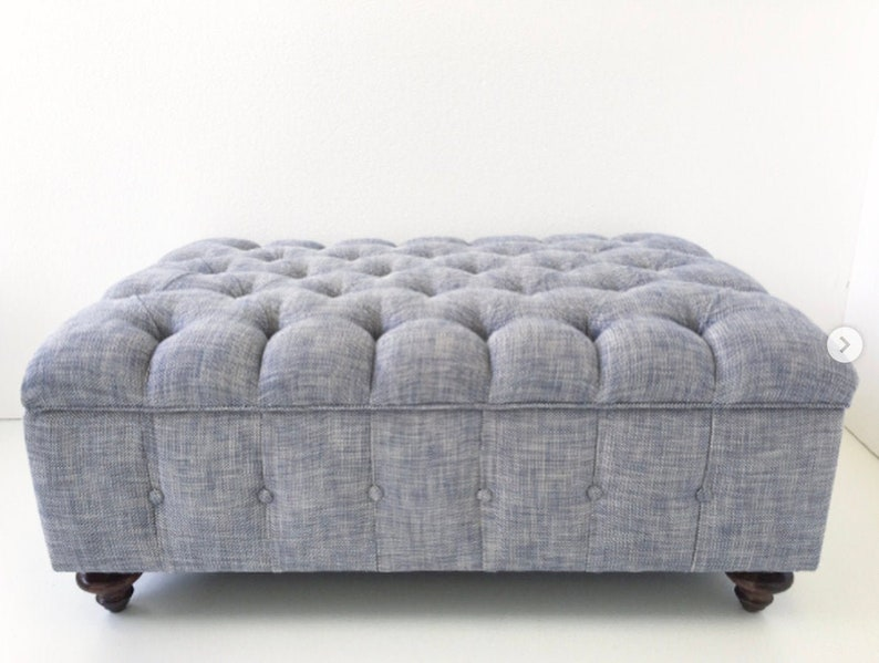 Fully Tufted Storage Ottoman  Design Your Own To Suit Your image 0