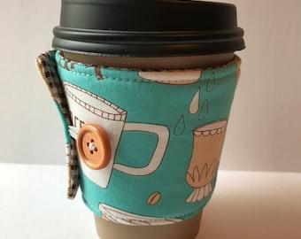 Mug Love Coffee Cup Cozy - Cup Cozy - Reusable Cup Sleeve - Gift Idea