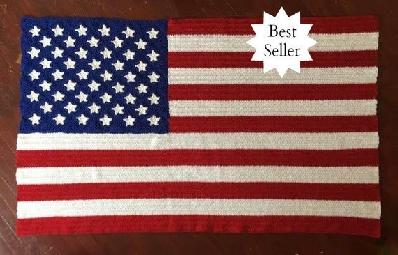 American Flag Blanket Crochet Pattern Pdf 235 Etsy
