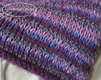 Tunisian Crochet Pattern - Tunisian Crochet Afghan Pattern - Vineyard Throw Crochet Pattern Afghan PDF 251