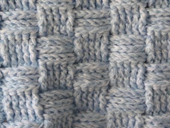 Preemie Thick Basketweave Afghan Crochet Pattern Pdf 010 Etsy