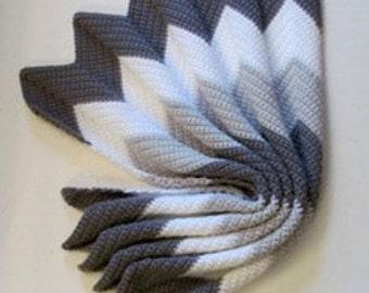 Chevron Crochet Afghan Pattern Waves of Grayce PDF 204