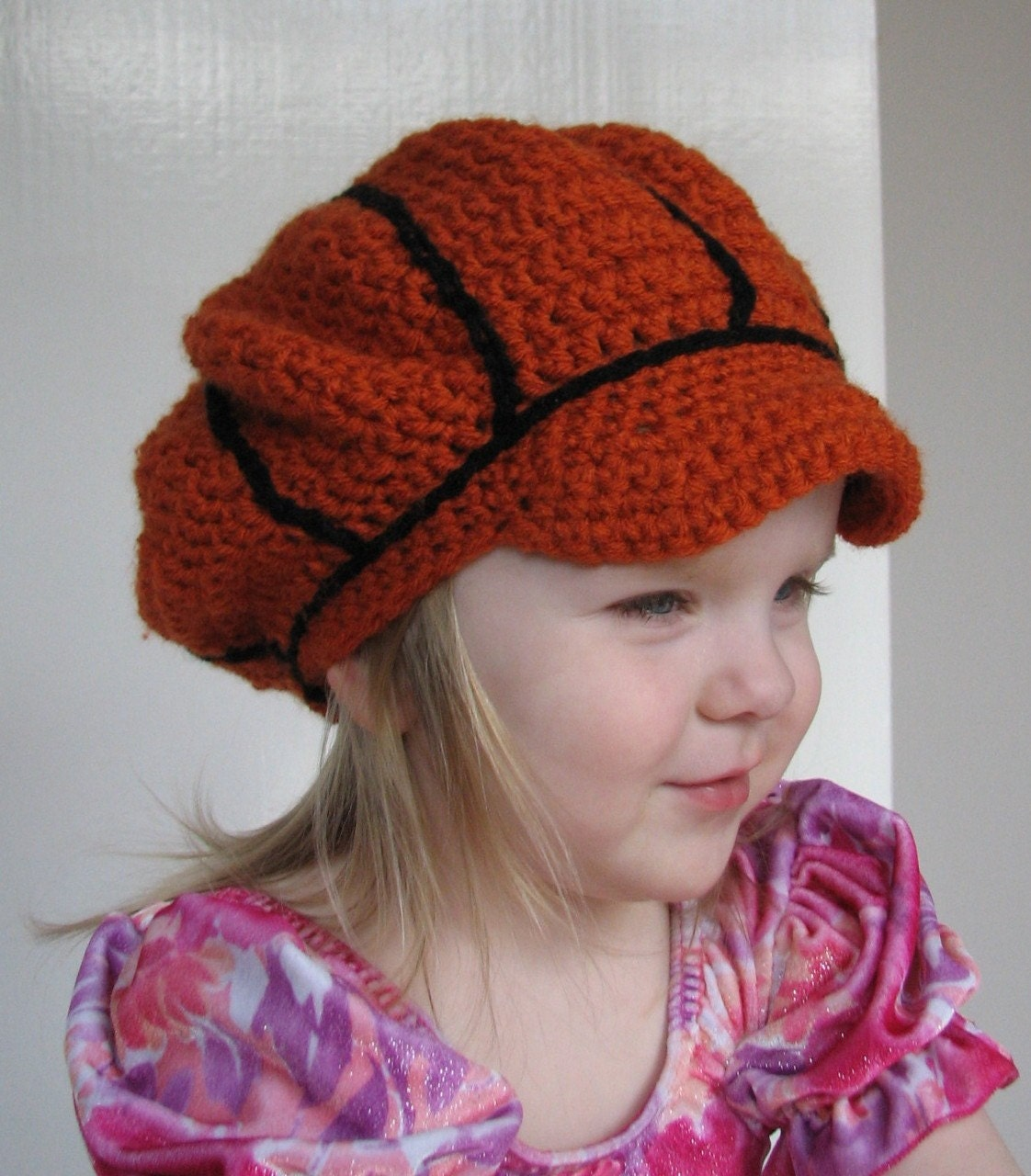 Child Basketball Beret Crochet Pattern Fits 2t To 5t With 3 Etsy