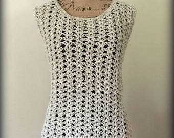 Ava Shell Tank Top Crochet Pattern - includes 9 sizes