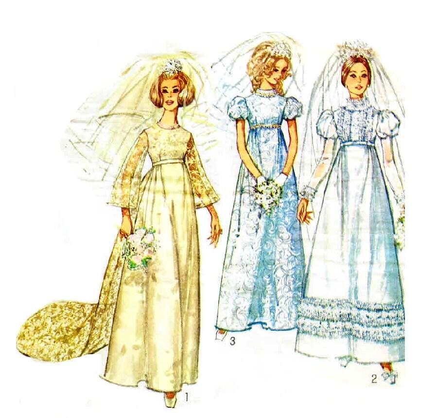 Vintage 1960s Wedding Dress Pattern Uncut Simplicity 8589