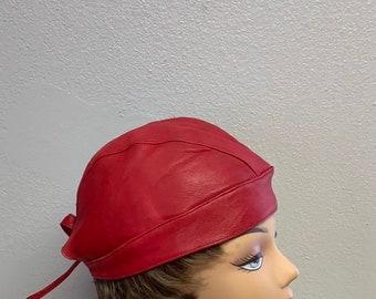 7a429eda69 Leather biker cap | Etsy