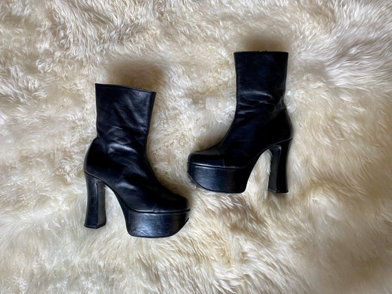 Black suede leather ankle boots India Women pointy toe footwear antique buckles Size EU 39 spring cowgirl booties chunky heels made in India