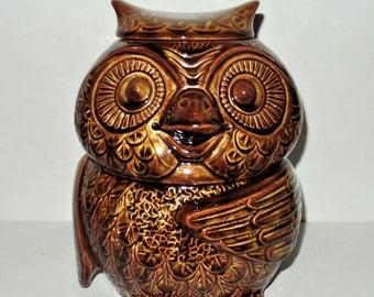 Vintage McCoy Owl Cookie Jar 1970's
