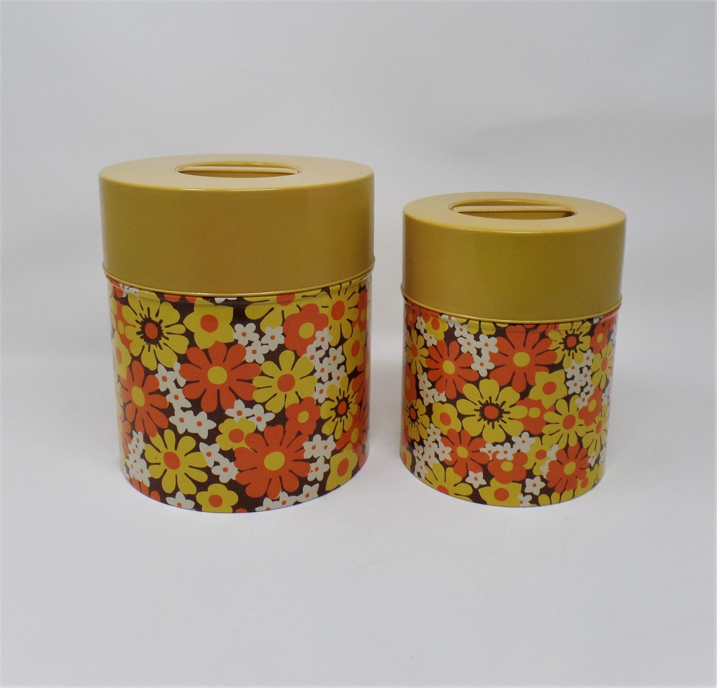 Vintage Metall Küchen Kanister Kanister 2er Set Japan