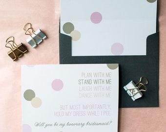 Hold My Dress While I Pee Wedding Card | Bridesmaid Invitation | Cute Wedding Party Invitations | Funny Bridesmaid Card | Wedding Stationery