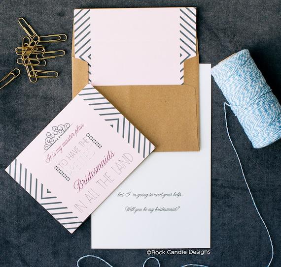 Prettiest Bridesmaid Invitations Cute Bridesmaid How To A Etsy