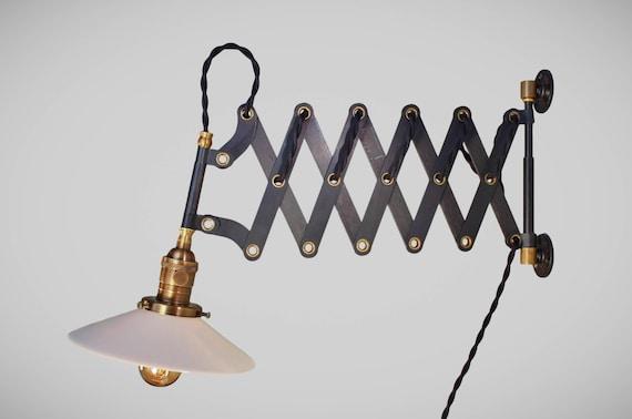 Cavo antico vintage scissor industriale lampada scissor etsy