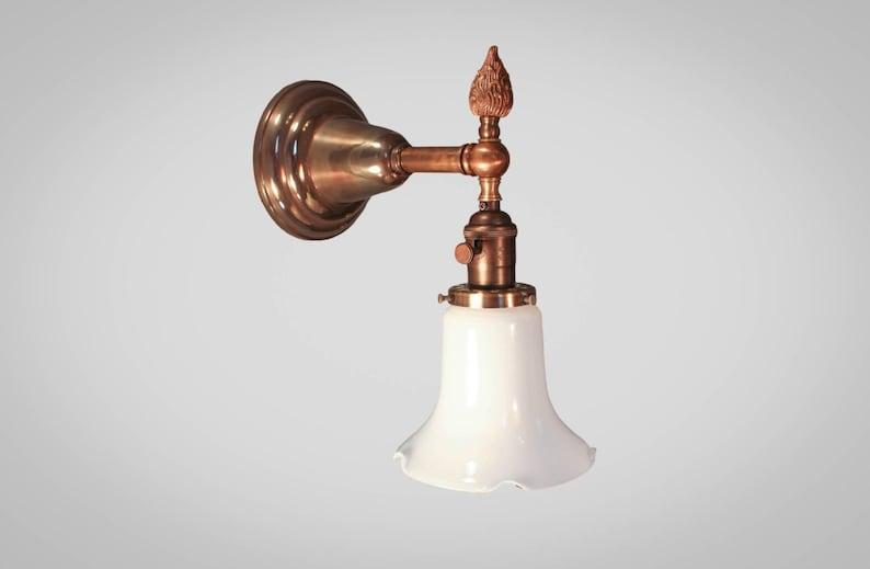 Antique victorian applique murale art déco vintage lampe etsy