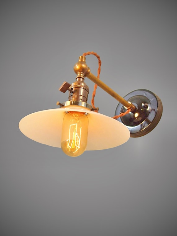 Without Shade Machine Age Bare bulb Lamp Industrial Swivel Sconce