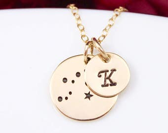 Personalized Aquarius Constellation Necklace - Aquarius Star Sign Necklace, Aquarius Gifts, Aquarius Jewelry