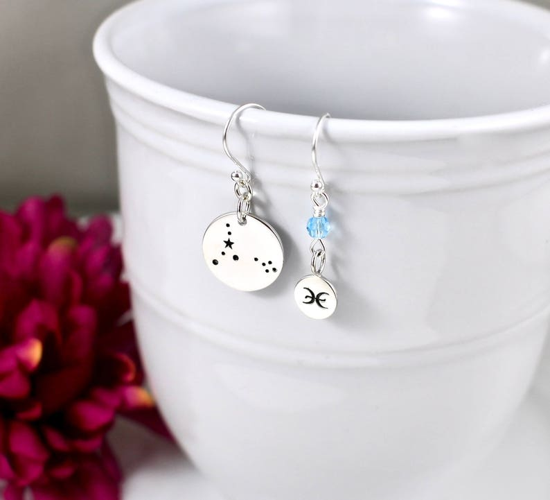 Gifts Pisces Zodiac Pisces Star Sign Gifts Constellation Pisces Earrings Pisces Birthstone Earrings Jewelry Pisces Birthday Gifts