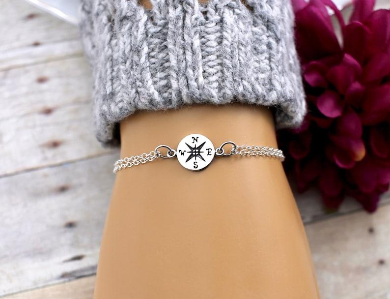 Compass Arrow Happy Retirement Gifts for Women Bangle Bracelet Follow Your Arrow Retirement Jewelry