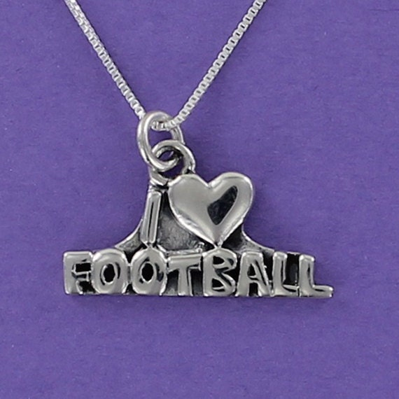 I love football Necklace earring pendants jewelry,Silver handmade jewelry sets