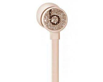 ur Beats 3,Custom Beats by Dre, Crystal Beats by Dre, Bling Beats, Custom earphones, Beats by Dre Pink Rose Gold,Beats earphones