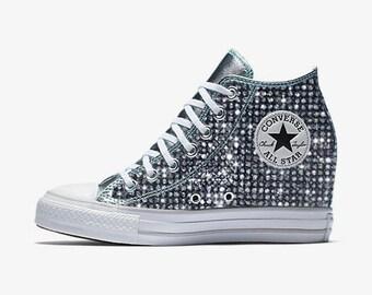 e618f53810e8c6 Custom Wedge Converse Chuck Taylor All Star Selene