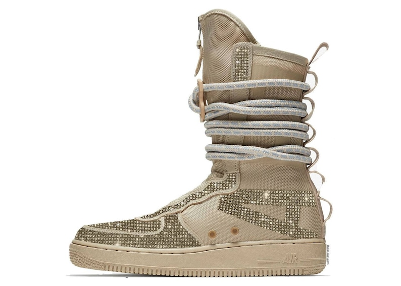 ef2928b58f8 Nike Sf AIR Force 1 HI Custom High Boots Swarovski High
