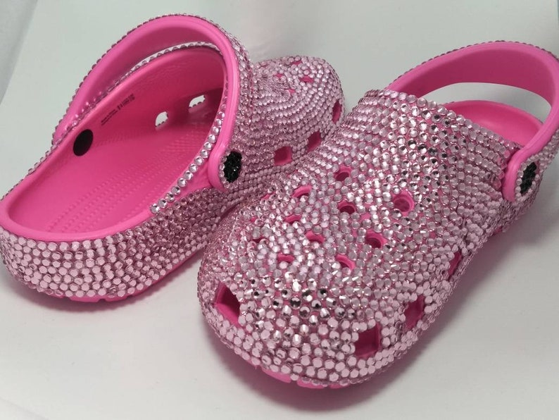 7b977ba18 Crocs Custom Made with Crystals Pink