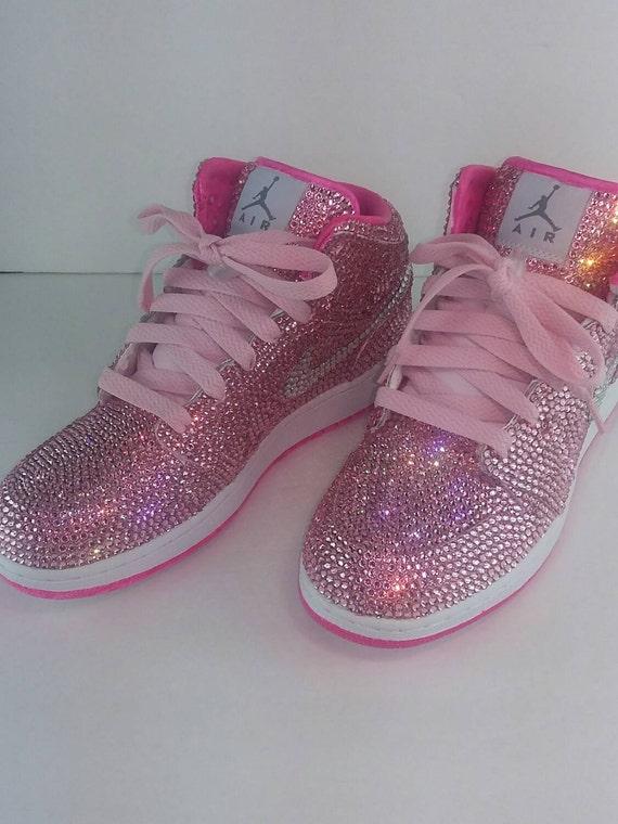 rosa Benutzerdefinierte Nike Auftrag kundenspezifischen Schuhe qzpMUSV